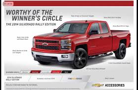 100 Chevy Truck Accessories 2014 Silverado 1500 Rally Package