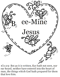 Valentines Day Coloring Pages Valentine Bees