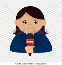 News Reporter Design Vector Illustration Eps10 Graphic Clipart