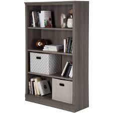 South Shore Morgan Storage Cabinet Black by South Shore Morgan 4 Shelf Bookcase Multiple Finishes Ebay
