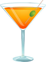 Alcohol clipart martini glass Pencil and in color alcohol