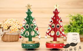 New 30cm Height Rotatable Music Box With Christmas Song Trees Decoration 20 Pcs Pinocchio