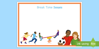 Break Time Issues Display Sign