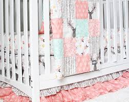 deer crib bedding etsy