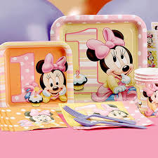 Baby Minnie Mouse Baby Shower Theme by Minnie Mouse First Birthday Partyware Disney Baby