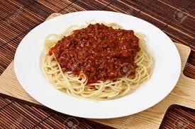 spaghetti bolognese klassische italienische küche und eine beliebte speise abendessen auf der ganzen welt