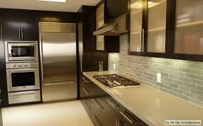 Kitchens With Dark Cabinets And Light Countertops by Ambassador Floor Company Set Off Dark Cabinetry With Light