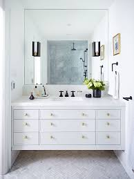 Beautiful All White Bathroom Design With Chevron Floor Detailing ... White Bathroom Design Ideas Shower For Small Spaces Grey Top Trends 2018 Latest Inspiration 20 That Make You Love It Decor 25 Incredibly Stylish Black And White Bathroom Ideas To Inspire Pictures Tips From Hgtv Better Homes Gardens Black Designs Show Simple Can Also Be Get Inspired With 35 Tile Redesign Modern Bathrooms Gray And