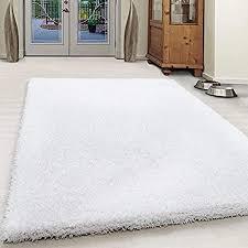 designer teppich uni hochflor einfarbig flauschig kuschelig shaggy weiß wohnzimmer schlafzimmer esszimmer modern preishammer günstig 60 x 110 cm