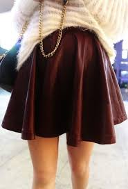Burgundy Skater Leather Skirt Top 10 Ways To Wear Color In Winter