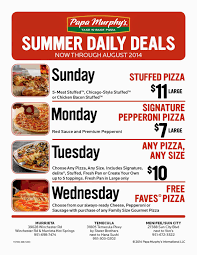 Papa Murphy's Launches Summer Daily Deals | Menifee 24/7 Order Online For Best Pizza Near You L Papa Murphys Take N Sassy Printable Coupon Suzannes Blog Marlboro Mobile Coupons Slickdealsnet Survey Win Redemption Code At Wwwpasurveycom 10 Tuesday Any Large For Grhub Promo Codes How To Use Them And Where Find Parent Involve April 26 2019 Ca State Fair California State Fair 20191023 Chattanooga Mocs On Twitter Mocs Win With The Exciting Murphys Pizza Prices Is Hobby Lobby Open Thanksgiving