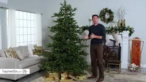 Natural Cut Layered Northern Fir Pre Lit Full Christmas Tree