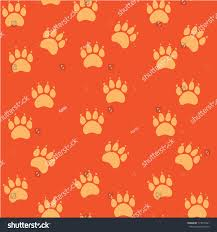 Dog Paw Print Pumpkin Stencils by Cat Dog Paw Seamless Pattern Vector Stock Vector 715010341