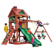Gorilla Playsets Double Down Playset-01-0036 - The Home Depot Backyard Adventures Wooden Playsets Gym Sets American Sale Swing Give The Kids A Playset This Holiday Sears Swingsets And Nashville Tn Grand Sierra Natural Green Grass With Pea Gravel Garden For 131 Best Images On Pinterest Swings Interesting Design And Plus Gorilla Wilderness Do It Yourself Thunder Ridge Set Shop Discovery Shenandoah Residential Wood With Review Adventure Play Atlantis Dallas Catalina Playground Outdoor