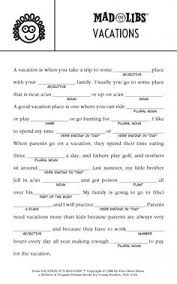Halloween Mad Libs Pdf by Crazy Story Summer Worksheets Mad And Summer
