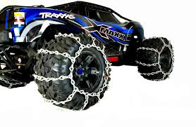 100 Truck Tire Chains TBR Snow Traxxas XMaxx Set Of 2 Or 4 Chains TBone Racing