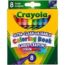Crayola Bathtub Crayons 18 Vibrant Colors by Crayola Large Coloring Book Washable Crayons 8ct Walmart Com