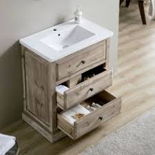 This Rustic Style Bathroom Vanity Will Be Perfect For Any Small The Distressed Driftwood