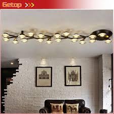zx kreative aluminium pflaumenblüte sterne led deckenleuchte microscler rund kunst licht mit warmweiß wohnzimmer schlafzimmer licht