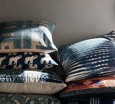 Pottery Barn Large Decorative Pillows by Diamond Shibori Print Pillow Cover Pottery Barn