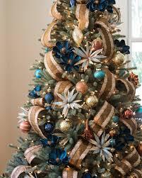 Shimmering Metallic Christmas Tree Ribbon Alt
