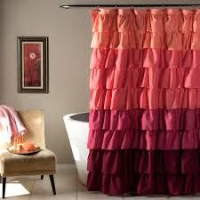 Lush Decor Window Curtains by Ruffle Peach Plum Shower Curtain Walmart Com
