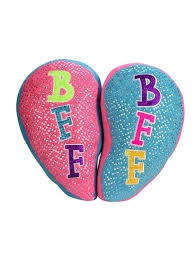 Pink Turquoise BFF Pillows