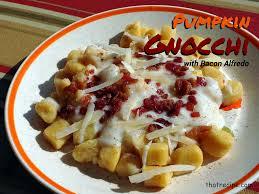 Pumpkin Gnocchi Recipe by Homemade Pumpkin Gnocchi With Bacon Alfredo