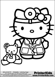 Hello Kitty Doctor Coloring Pages