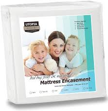 Dust Mite Bed Covers by Waterproof Mattress Encasement Zippered Bed Bug Proof Mattress