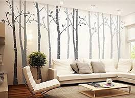 amazon com 4 big birch tree wall decal nursery removable vinyl
