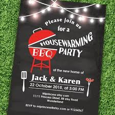 Housewarming Invitation Bbq New House BBQ Gathering Party Chalkboard Backyard Barbecue
