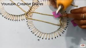 DIY Matchstick Wall Hanging At Home I Decor Best Out Of Waste Creative Diaries