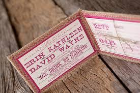 Burlap Pink Monogram Wedding Invitation Inside