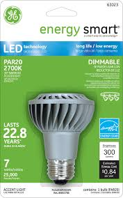 ge energy smart r dimmable 30w replacement 7w par20 led light
