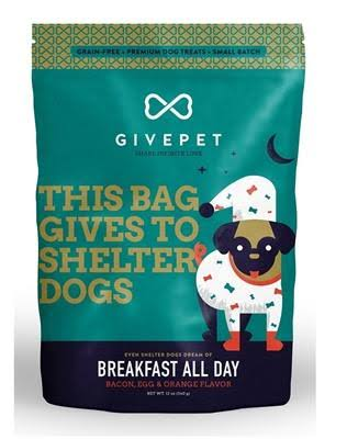 GivePet Breakfast All Day Dog Treats 12 oz