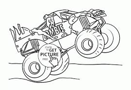 Monster Jam Truck Zombie Coloring Page For Kids Transportation Pages Printables Printable Medium Size