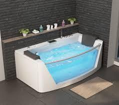 luxus whirlpool badewanne macao mit 14 düsen glas led heizung ozon radio armaturen bad