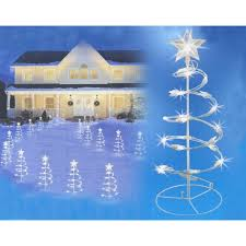 Shop Set Of 3 Clear Lighted Outdoor Spiral Walkway Christmas Trees Yard Art 18
