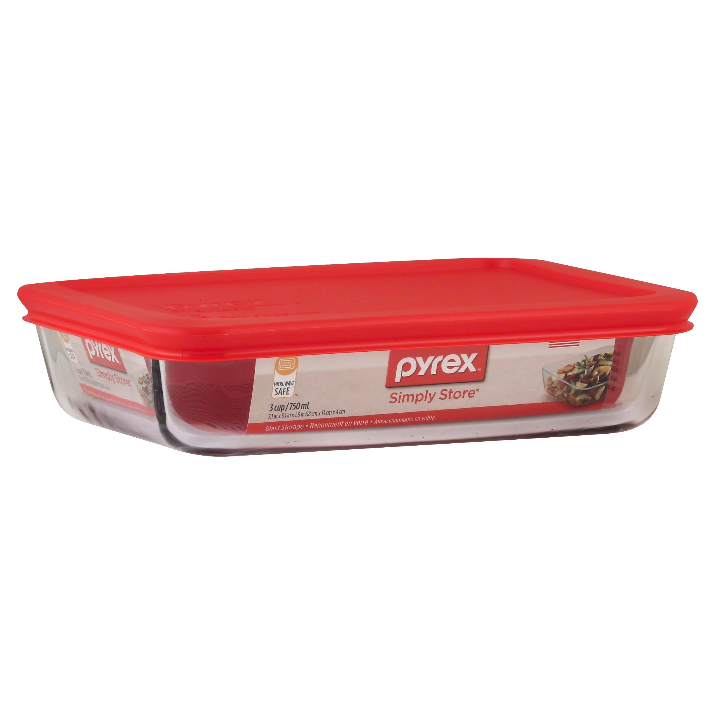 Pyrex Bakeware Rectangle Food Storage Container - 3 Cup