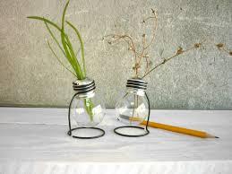 light bulb vase glass vase terrarium plant set of 2 vases