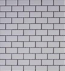 2 matte white brick terra tile and marble