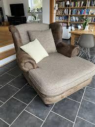 big sofa sessel kolonialstil braun