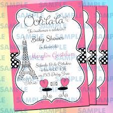 Invitaciones Baby Shower Parísbaby Showerinvitación Paris
