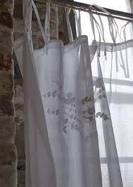 rideau brise bise pompons blanc pm coton rideaux brise bise les