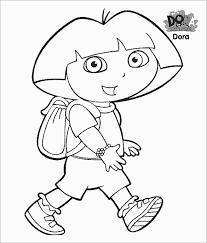 Fantastic Dora Coloring Page Free Printable