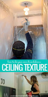 Scrape Popcorn Ceiling Dry by Remodelaholic How To Apply Knockdown Ceiling Texture