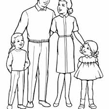Family Members Coloring Pages Sketch Page