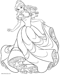 Download Coloring Pages Princess Belle Disney Within