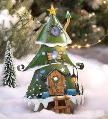 Small Lighted Christmas Tree House